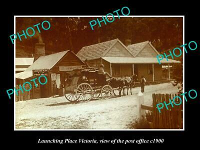 OLD LARGE HISTORIC PHOTO OF LAUNCHING PLACE VICTORIA, THE POST OFFICE c1900