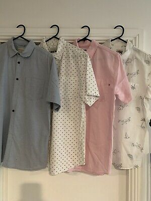 Boys Shirts X 4 Excellent Condition Fit 12-16 Year Old