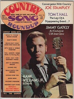 Country Song Roundup Magazine	August 1973 Hank Williams Jr Joe Stampley Don Wil