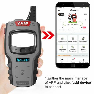 Xhorse VVDI Mini Key Tool Remote Programmer Global Version works on IOS/ Android