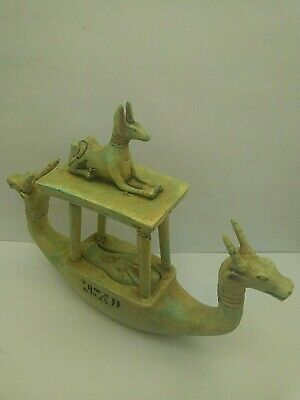 ANUBIS BOAT ANCIENT EGYPTIAN ANTIQUE ANUBIS After Life Boat 1698-1542 BC