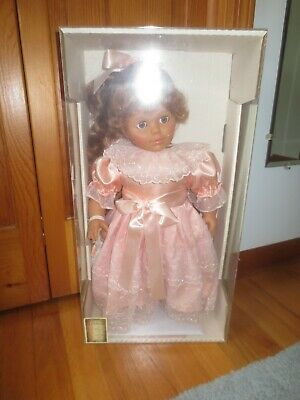 "1993 Lissi Puppen SALENA Soft 20"" DOLL w/Baby Doll & Original Box & COA--Germany"