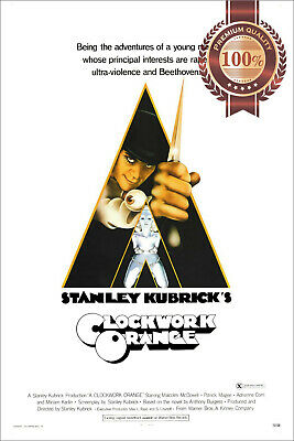 New A Clockwork Orange 1971 Original Official Cinema Movie Print Premium Poster