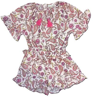 Pretty SEED HERITAGE Size 6 Girl's Paisley Print PLAYSUIT Jumpsuit