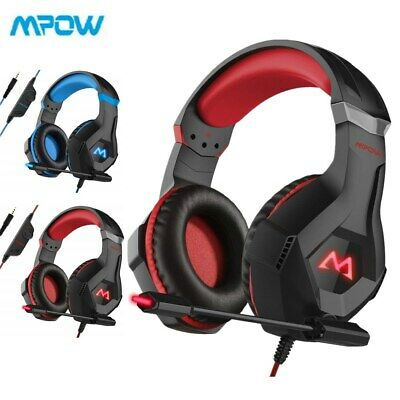 Mpow LED Wired Gaming Headset Headphones For PC Xbox One, PS4, Nintendo Switch