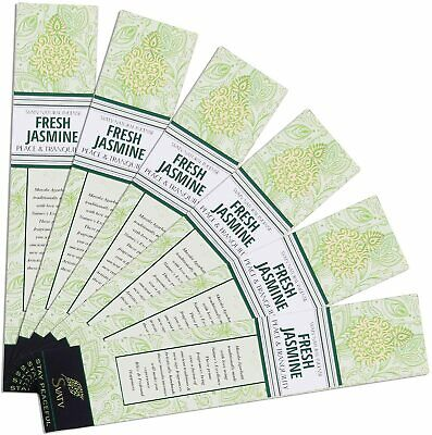 Jasmine :: Hand Rolled Masala Incense Stick Made in India 15g Pack of 6