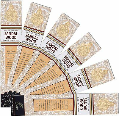 Sandalwood :: Hand Rolled Masala Incense Stick Made in India 15g Pack of 6