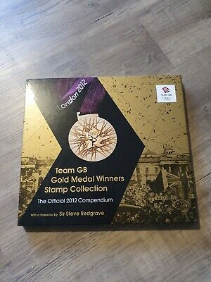 Compendium 2012 Olympic Team GB Gold Medal Winners Stamps Book.  Full Collection