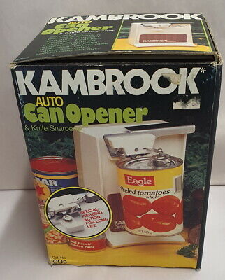 Vintage Kambrook Auto Can Opener and Knife Sharpener C05 MIB Boxed c1977-84