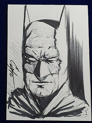 ORIGINAL ACEO Art Sketch BATMAN Trading Card