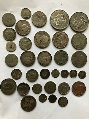 Job Lot Of English Silver Coins Pre 1947