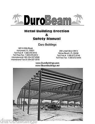 Duro Pre-Engineered I-BEAM Steel Metal Building Erection Construction Manual CD