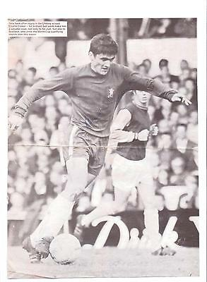 Charlie Cooke Chelsea 1966-1973 & 1973-1978 Original Hand Signed Picture Cutting
