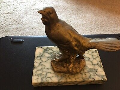 Possibly Greek Archaic Etruscan Bronze Statuette on a Marble Base ~ 1 of a Kind!