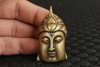 Blessing china bronze hand carved buddha statue collectable pendant netsuke
