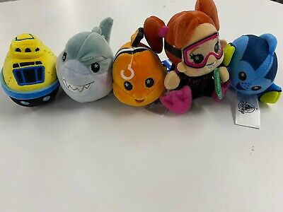 Disney Parks Finding Nemo Submarine Voyage Wishables Complete Set of 5