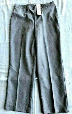 NEW Alfred Dunner Proportioned Pants Sz 12 Short, Gray, Stretch Elastic Back