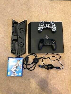 Sony PlayStation 4 Pro 1TB  With FIFA 19 Two Controllers + Charging Stand