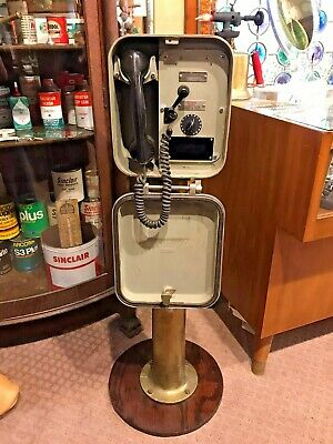Vintage Henschel Corporation Ship Phone/Bell Box with Brass Stand