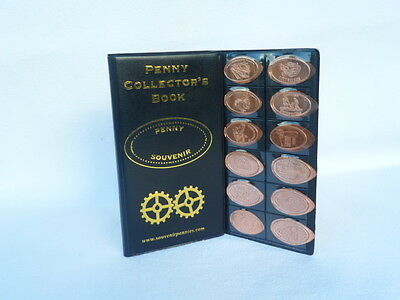 Penny Collector's Book + 2 Pressed Pennies - Elongated Coin Passport/Album