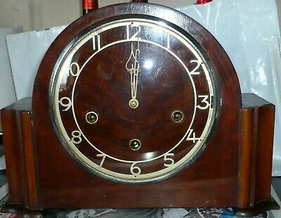 Vintage Art Deco  Very Large Mantle Clock Westminster    15 x 7 x 9 high