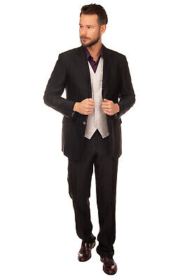RRP €980 PAL ZILERI CERIMONIA Suit Size 52 XL Wool Blend Pinstripe Made in Italy