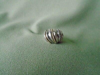 Stamped 925 Silver Sterling Textured Swirl Ridge Rope Dome Size 7.75 Ring 8 Gram