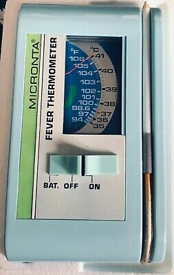 Vintage Micronta Automatic Fever Thermometer 9V Battery Powered New Open Box