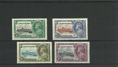 Cayman Islands Sg108-111 1935 Silver Jubilee Set Mounted Mint