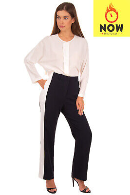 RRP€640 STELLA McCARTNEY Tailored Trousers Size IT 40 XS Contast Side High Waist