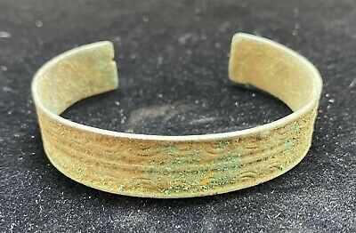 Authentic Ancient Lake Ladoga VIKING Artifact > Bronze Bracelet  VW20