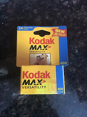 NIB Film 35 mm Kodak Max Versatility ISO 400 24 Exposure film Exp 10/2003