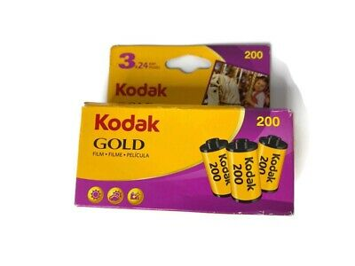 Kodak GOLD 200 Color Negative Film(35mm Roll Film,24 Exposures,3-Pack) Exp 03/12