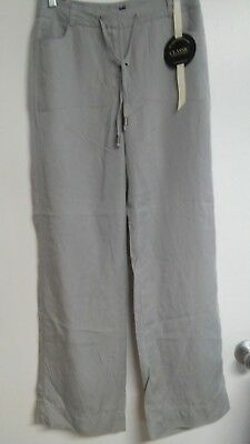 NWT SIZE 4 Womens Charter Club Drawstring Pants - Blue Gray Soft Tencel