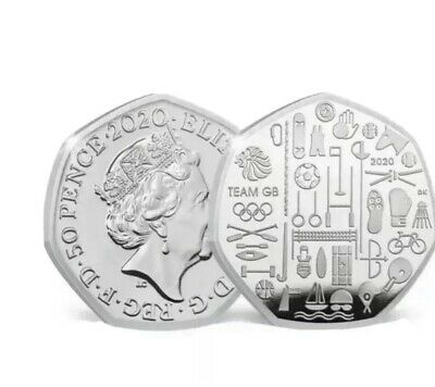 2020 Team GB Tokyo Olympics 50p Coin - BUNC New Fifty Pence Very Rare PREORDER#