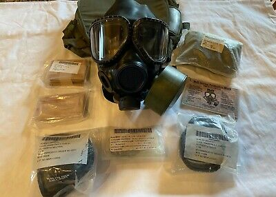 M40 M42 Gas Mask (M), Carrier, 40mm Filter, Outsert Lenses, Second Skin More