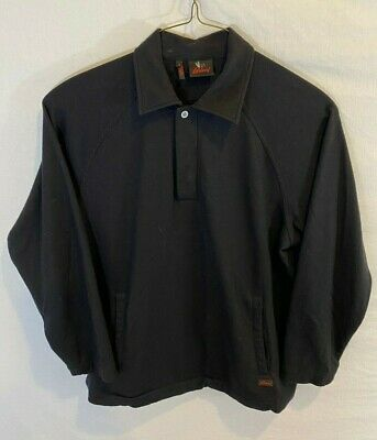 Brioni Mens Small Black Pullover L/S 1/4 Button Shirt Sweater Cashmere Wool Silk