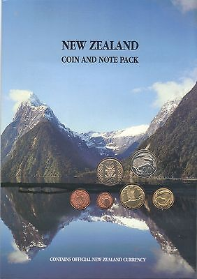 1987-1990 New Zealand (6) Coin & ($1 & $2) Note Pack ~ Uncirculated