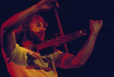 OLD MUSIC PHOTO French Violin Player Jean luc Ponty On Stage Circa 1970