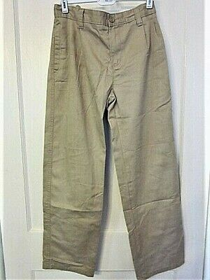 CHEROKEE Tan Ultimate Khaki Zip & Button Front Women's / Girl's Pants - SZ.14H