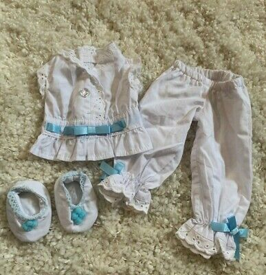 American Girl Doll Rebecca White Eyelet Pajamas Pre Owned Retired Rare