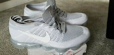 Nike Air Vapormax Flyknit Pure Platinum Grey White Mens Size 8.5 Rare 849558-004
