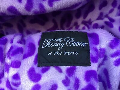 Baby Emporio MyFancyCover Shopping Cart Cover Purple Leopard Print