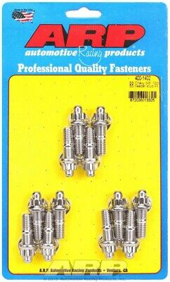ARP Header Stud 1.670 in 12 Point Nuts Polished SBC 12 pc P/N 400-1402