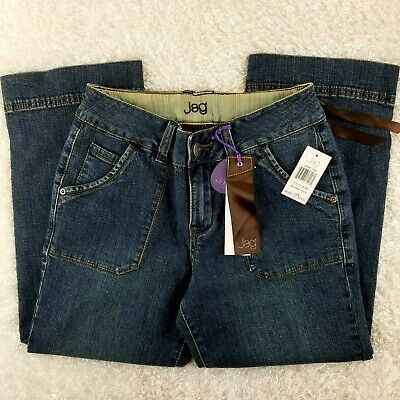 NEW Jag Jeans womens Blue Note capri SIZE 4 mid rise stretch jean crop pants (A
