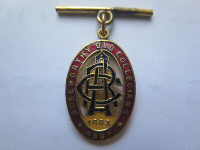 c1930 ROSEWORTHY AGRICULTURAL COLLEGE ROSEWORTHY OLD COLLEGIANS ASSn 1883 BADGE