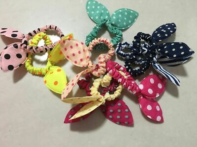 1x Scrunchie Bow Kids Elastic Bands Girls- Hair Tie Bobble Hair Band Pony Tail..