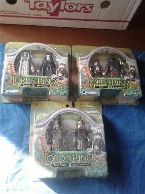 Lord of the Rings Art Asylum Minimates 3 boxes never open rari