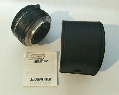 Focal 2x Teleconverter PK for Pentax with Case & Instructions