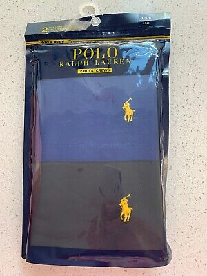Polo Ralph Lauren 2 Boys T Crews Large 14-16 New In Packet